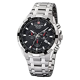 Swiss Alpine Military by Grovana Men's Watch Chrono 10 ATM Black 7043.9137SAM