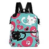 COOSUN Par de gatos escuela de la mochila del morral del recorrido Multi