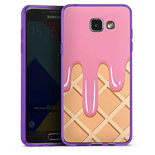 DeinDesign Samsung Galaxy A5 (2016) Silikon Hülle transparent lila Case Schutzhülle EIS Waffel Eiscreme - Lila Waffel