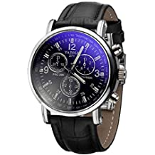 Culater® Moda de Lujo de Imitación de Cocodrilo Cuero de los Hombres Reloj AnalóGico Relojes