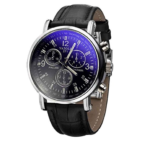 Culater® Moda de Lujo de Imitación de Cocodrilo Cuero de los Hombres Reloj AnalóGico Relojes Nueva