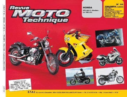 revue-moto-technique-n-93-honda-vt-600-c-triumph-trident-750-et-900-trohy-900-daytona-750-et-900-tri