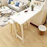 LQQGXLPortabler Klapptisch Klappbarer Bartisch, Trennwandschrank, Wandtisch, einfacher Esstisch (Farbe : Weiß)