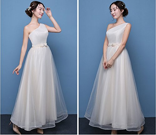 Leader of the Beauty - Robe - Fille Champagne One Shoulder