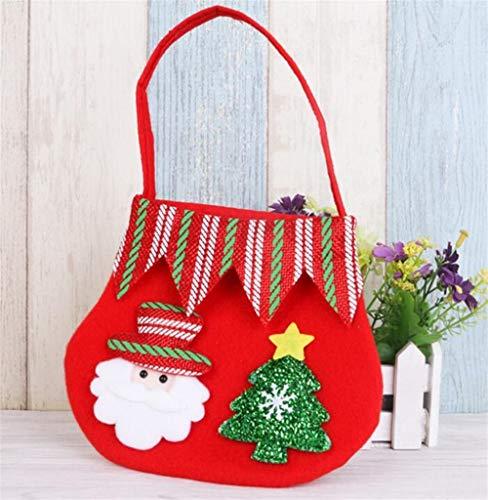 Upstudio Party Taschen Farbe Süßigkeitstasche kleines Geschenk Geschenk Tasche Weihnachten liefert (Alter Mann)