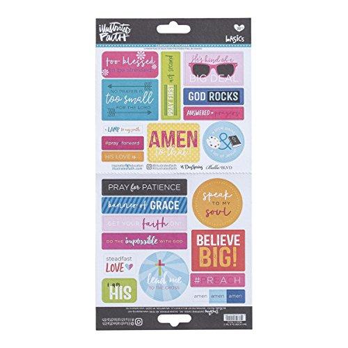 bebilderte Faith-Karton Aufkleber-Sonnenbrille