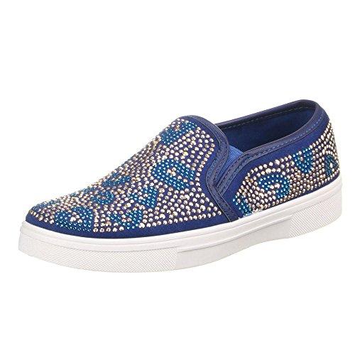 W-70, chaussures basses femme Bleu - Bleu
