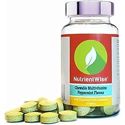 Nutrient Wise™ Integratore Multivitaminico e Multiminerale - Vitamine e Minerali per Uomini e Donne, Adatto ai Vegetariani - Integratori alimentari - Vitamina C, A, B6 & Vitamin D3