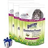 3 x 4 kg Bunny Kaninchen Traum Senior Futter für ältere Zwergkaninchen +Geschenk