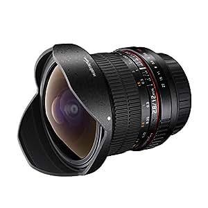 Walimex Pro 12mm f/2,8 Fish-Eye Objektiv DSLR  für Canon EF Bajonett schwarz