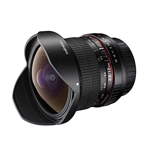 fisheye nikon Walimex Pro 12mm f1:2,8 Festbrennweite manueller Fokus Weitwinkelobjektiv für Nikon F Mount Kamera Objektiv für Spiegelreflexkameras Nikon D850 D7500 D3400 D300 D7200 D3