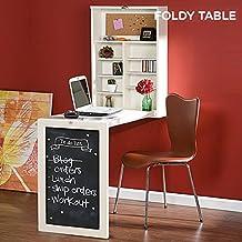 qtimber Escritorio Plegable de Pared Foldy Table W 11 x 56 x 93 cm scrittoio, scrivania