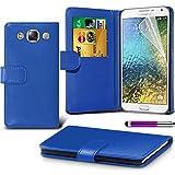 Samsung Galaxy E7 SM-E700 Blue Farbe PU Lederetui Buch-Stil