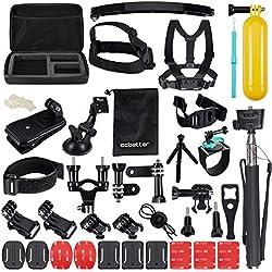 Accesorios para Gopro, ccbetter Soportes para cámaras de acción para Gopro Hero 4 Hero 5 Session Hero 1 2 3 3+ para la mayoría de la cámara deportiva With Case (Negro)