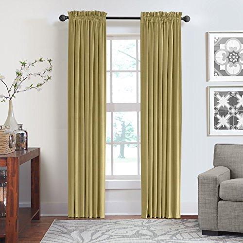 veratex Made in die USA 100% Baumwolle Velourssamt Wohnzimmer Rod Pocket Fenster Schiebevorhang, Apple Cider, 304,8cm Made In Usa-pocket