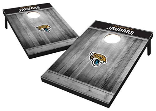 Wild Sports Kornloch-Set aus MDF-Holz, 90 x 90 cm, Grau, Jacksonville Jaguars Tailgate Toss - Gray Wood Design, Team Color, 2'x3'