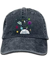Sdltkhy Algodón Vintage Gorra de béisbol Sombrero de béisbol Astronauta en  el Planeta Dibujos Animados en 7778b47bde6