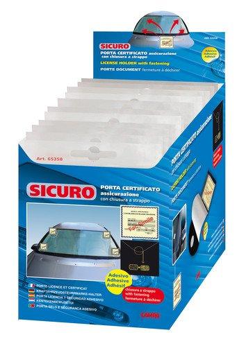 LAMPA 65358 Porta Certificato Assicurazione, Adesivo, Chiusura a Strappo Sicuro