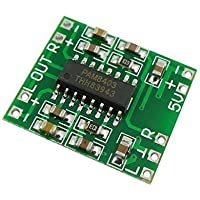 Aihasd Super Mini Tablero amplificador PAM8403 2 x 3W D clase Digital Tablero amplificador 2,5-5V USB potencia