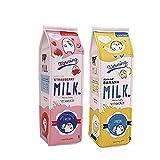Fablcrew Pencil Case creativo scatola del latte PU borsa organizer con cerniera ufficio scuola forniture 2PCS