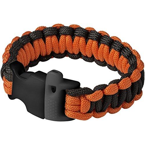 Elevate Notall-Paracord-Armband Elliott (24 x 1,1 x 2,2 x 8 cm) (Schwarz/Orange)