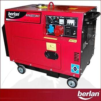 5000 W Diesel Stromerzeuger - Schallgedämmt 230 + 400 Volt