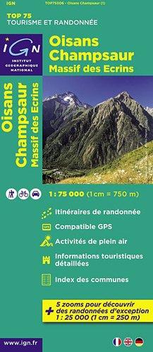 TOP75006 OISANS/CHAMPSAUR 1/75.000