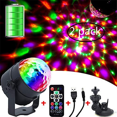 tivated Party Lights mit Fernbedienung DJ-Beleuchtung, RBG Disco Ball, Stroboskoplampe 7 Modi Stage Par Light für Home Room Dance Parties ()