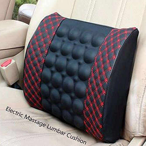 513iNHQ%2B7KL. SS500  - Car Electric Massage Waist Pillow-12V Electric Car Seat Back Premium Lumbar Lower Back Pain Support Pillow, Protect and…