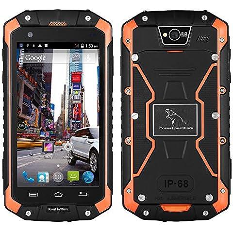 Dax Bosque Leopard Teléfono A Prueba De Agua Smartphone Touch-Pantalla Anti-Choque Anti-Polvo Pantalla 4.5