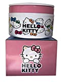 Saanveria Hello Kitty Print Lunch Box Stainless Steel Double Layered Insulated Body Round