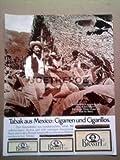 70er Jahre : BRANIFF TABAK AUS MEXICO - alte Werbung /Originalwerbung/ Printwerbung /Anzeige /Anzeigenwerbung GROSSFORMAT 21 x 27 cm