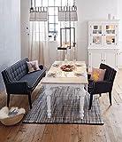 Miavilla Leinenvorhang Stripe mit Schlaufen und Streifen 110 x 240 cm - Natur
