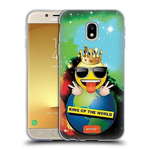 Officiel Emoji Roi Du Monde Smileys Étui Coque en Gel molle pour Samsung Galaxy J3 (2017)