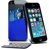 (Blu) Huawei Ascend Y550 Stylish Designed 3M adesivo del silicone smart Carta di Credito / Debito Pouch da Fone-Custodia