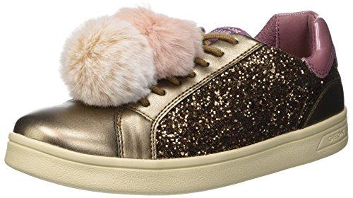 Geox Mädchen J DJROCK Girl D Slip On Sneaker, Gold (Dk Bronze C6015), 38 EU
