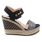 Kanna , Damen Sandalen, Schwarz - schwarz - Größe: 39
