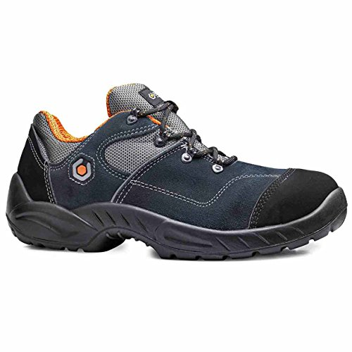 Base Bo155 Garibaldi S1p Src Sourcingmap - Chaussures De Sécurité Pour Hommes, Avec Lacets Bleu Foncé