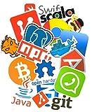 Top Stickers !  Lot de 50 Stickers Geek Informatique - Autocollant Top Qualité Non Vulgaires - Geek, Informatique - Customisation ordinateur portable, bagages, moto, vélo, skateboard... (#50-GEEK)
