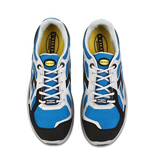 Diadora D-Flex Low S1p Src, Chaussures de Sécurité Homme Azzurro / Grigio