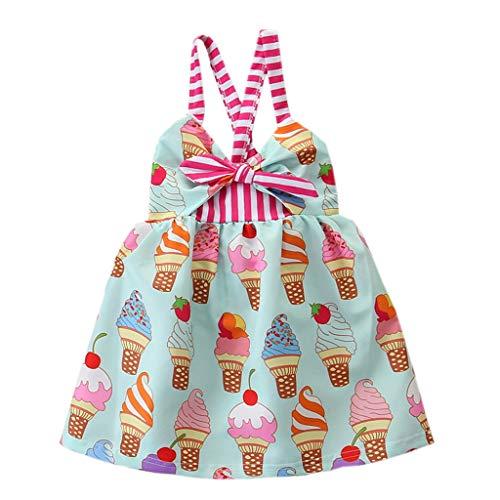 sunnymi  ® 0-4 Jahre Kleid Baby Mädchen Prinzessin Belle Bowknot Ice Cream Kleider Kostüm Kleidung (Twin-halloween-kostüm-ideen Junge Mädchen)