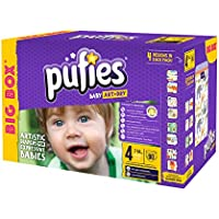 Pufies Baby Art Dry - 90 Pañales, Talla 4, 7-14 Kg