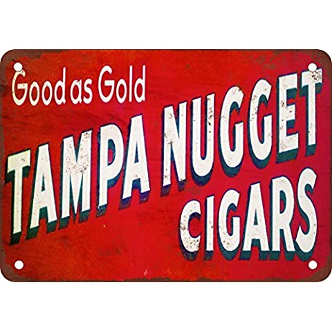 Tampa Nugget puros reproducción de aspecto Vintage Metal placa metálica, 12x 18inches