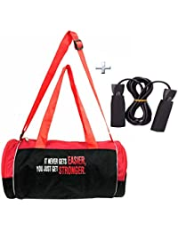 Combo Protoner Gym Bag It Never Gets Easier You Just Get Stronger With Rope