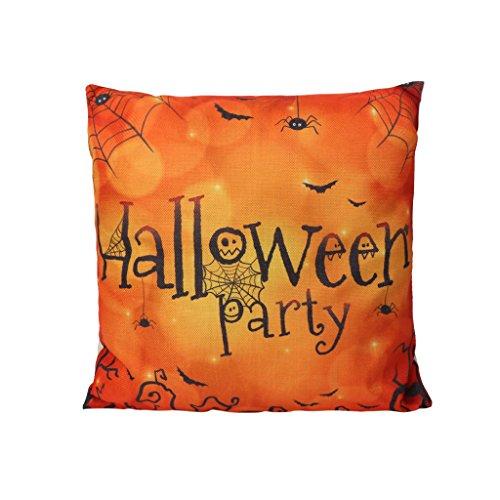 Skylive 3pz happy halloween pillow covers, square pillow protectors cute pillowslip copertura per divano casa camera da letto ufficio coffee shop multicolor