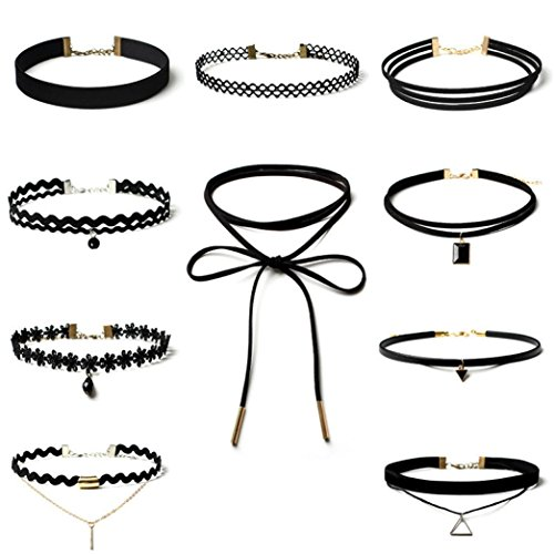 sunnywill-10-stuck-choker-halskette-set-stretch-samt-klassische-gotische-tattoo-spitze-choker-fur-fr