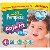 Pampers Active Fit Taille 4 (7 à 18 kg) Jumbo Pack 68 par paquet