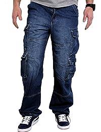 JET LAG Cargo-Hose Modell 007 Herren Jeans Pant - Denim Lite Navy inkl. F524 Camo Schlüsselband