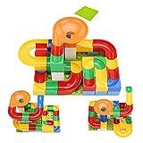 Eizur 54 Stück Bausteine Kugel Rutschen Spur Lauf Gebäude Bauklötze ABS Kunststoff DIY Konstruktion Puzzle Lehrreich Spielzeug Zum Kinder Jungen und Mädchen 3-6 Jahre Alt