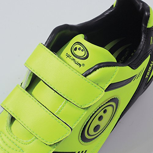 Optimum Tribal Boot-Velcro 6 Stud, Chaussures de Football Gar&CcedilOns Jaune - Yellow (Fluro Yellow/Black)